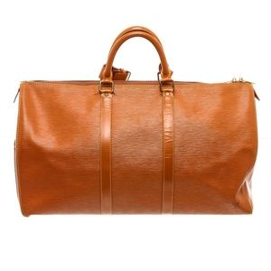 Louis Vuitton Gold Epi Leather Duffle Bag Luggage